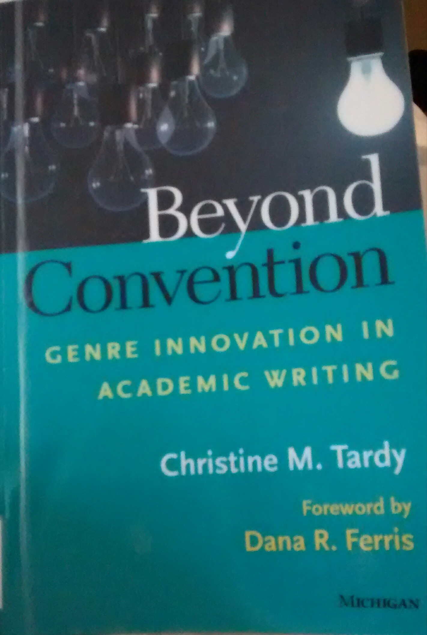 Beyond Convention in Academic Writing
